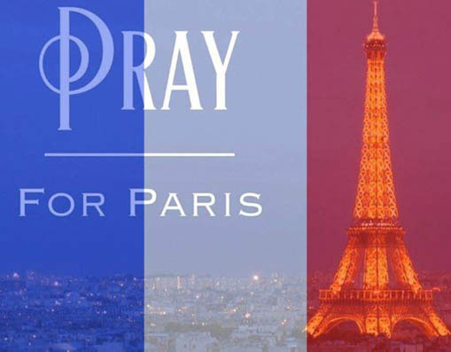 Sao Việt ủng hộ Pray for Paris