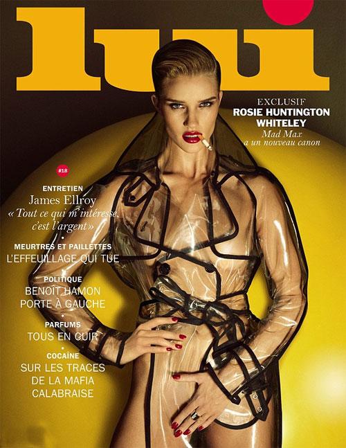 Chân dài xứ sương mù Rosie Huntington-Whiteley tự tin phô bày thân hình 'cò hương' trên ấn phẩm mới nhất của tạp chí Lui.