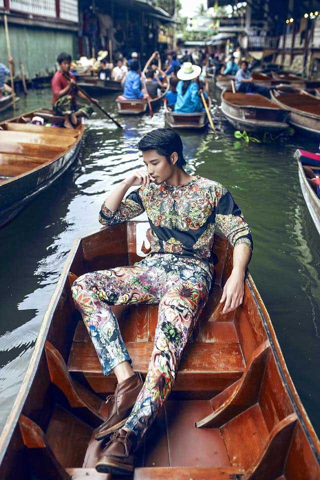 Hồ Vĩnh Anh nổi bật trên chợ nổi Thái - sao showbiz