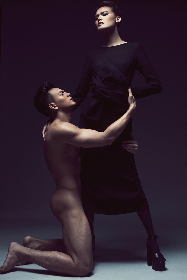 Gà cưng NTK Đỗ Mạnh Cường táo bạo trong bộ ảnh tình nhân