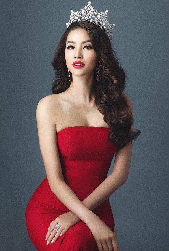 Phạm Hương được chú ý ở Hoa hậu Hoàn vũ 2015
