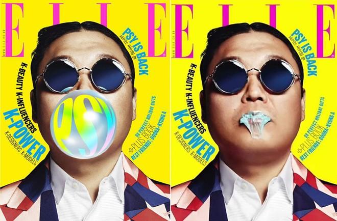 Psy lên bìa tạp chí ELLE Women