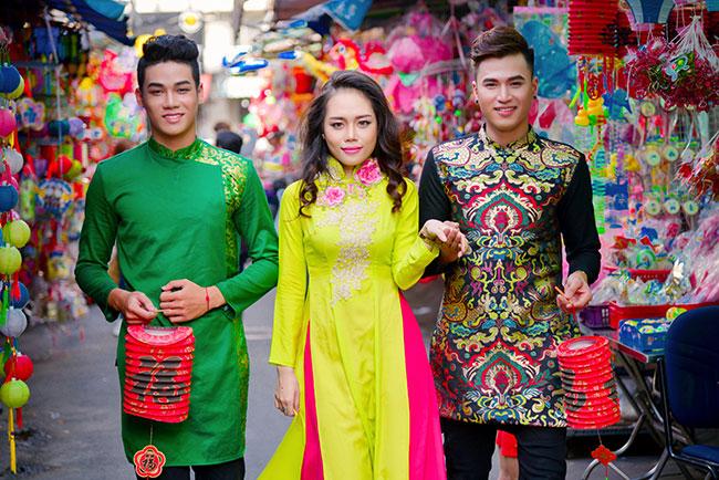 Nét đẹp áo dài của các bạn trẻ mùa trung thu