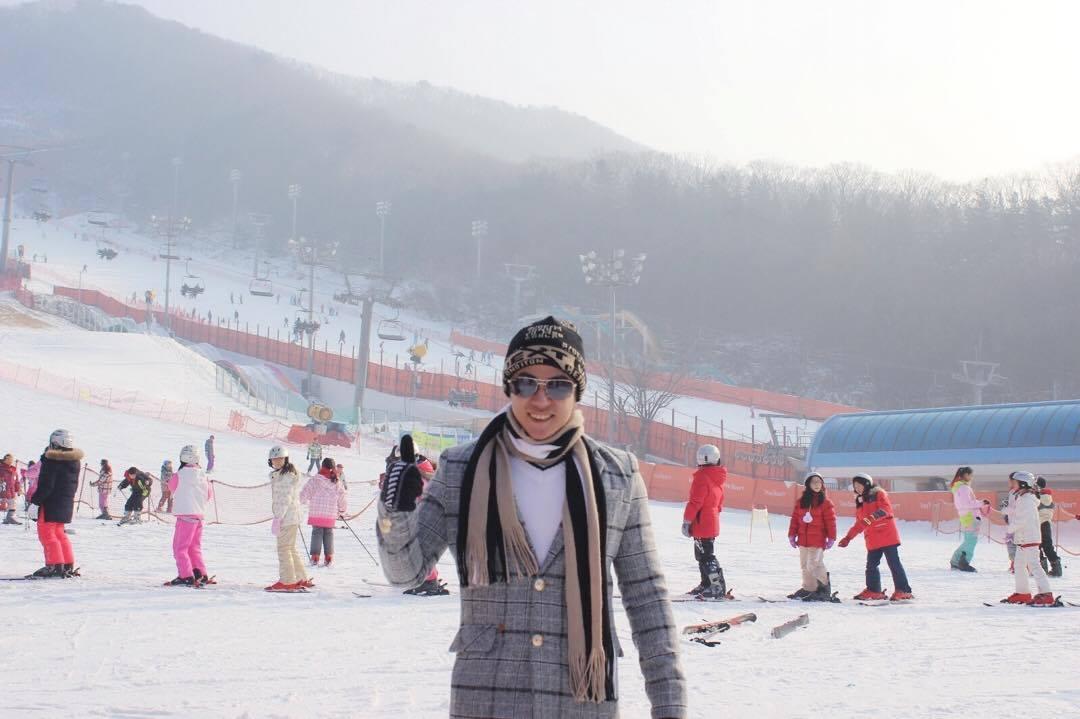 Á Vương Cao Thiên Phước điển trai như Sao Hàn khi du lịch Hàn Quốc