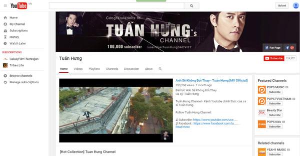 Kênh Youtube Tuấn Hưng nhận nút Bạc
